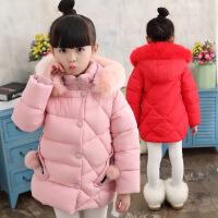 女童棉衣2018女孩冬装韩版儿童加厚棉袄女大童中长款外套羽绒