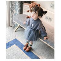 女童连衣裙秋冬2018新款韩版加绒公主卫衣裙子小童女宝宝洋气秋装