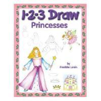 【预订】1-2-3 Draw Princesses