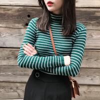 网红高领套头毛衣女秋冬季短款长袖紧身针织衫修身上衣百搭打底衫 均码