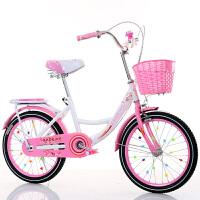 儿童自行车6-7-8-9-10-16岁新款女童小孩学生公主式单车
