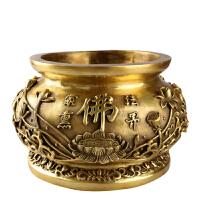 铜车载小香炉 家居工艺品摆件 莲花佛教熏香炉香薰炉