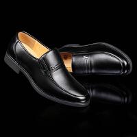 夏季新款男士皮鞋男正装内增高男鞋潮流商务休闲透气爸爸鞋子