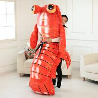 创意皮皮虾抱枕公仔毛绒玩具大号仿真玩偶我们走表情抱枕生日礼物
