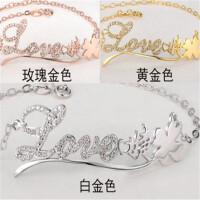 DIY定制925纯银饰品名字母手链女闺蜜创意简约学生生日礼物送女友礼品