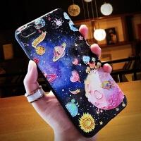 iPhone6手机壳浮雕挂绳卡通6s黑边苹果7plus情侣男女