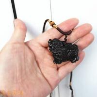 福麟保兔桃木麒麟挂件钥匙扣项链吊坠挂件木质雕刻饰品随身
