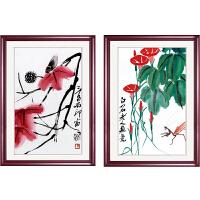 中式装饰画客厅壁画玄关墙画框挂画国画