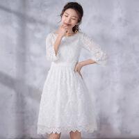 烟花烫尔叙 2018春夏新款女装甜美蕾丝中长款连衣裙 风渐暖