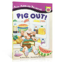 【全店300减100】英文原版进口 All Aboard Reading Picture Reader Pig out!