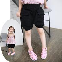 儿童男女童中裤夏装新款 幼儿园宽松大PP裤垮裤五分裤