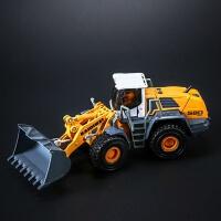 合金工程车模型铲车 推土机仿真2岁3岁儿童玩具车 凯迪威推土机