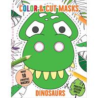 恐龙 Color & Cut Masks: Dinosaurs 英文原版 低幼儿童启蒙认知绘本玩具书 亲子互动