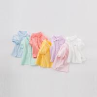 davebella戴维贝拉夏装新款女童T恤宝宝短袖休闲上衣polo衫DB7716