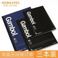 日本kokuyo国誉Gambol商务笔记本办公笔记5mm方格/横线 A4/B5/A5无线装订本子胶装本记事本