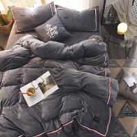 冬季加厚保暖珊瑚绒四件套法兰绒法莱绒床单被套1.8m水晶绒