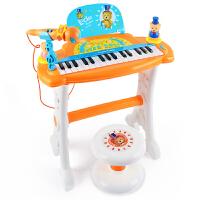 贝芬乐熊儿童电子琴3-6岁初学小钢琴男女孩宝宝玩具礼物话筒