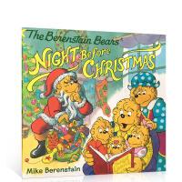 英文原版Berenstain Bears' Night Before Christmas贝贝熊的圣诞平安夜儿童早教益智
