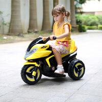 儿童电动摩托车可坐三轮车小孩充电瓶车玩具汽车