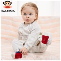 PWU1773060大嘴猴(paul frank)婴儿假两件长袖圆领连身衣宝宝纯棉连体衣