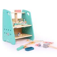 儿童拼装木制积木玩具拆卸椅拆装工具螺母螺丝组装组合