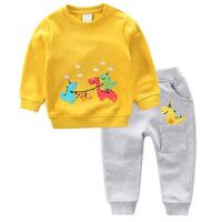 男童春秋套装新款儿童运动卡通卫衣 婴幼小童宝宝套装