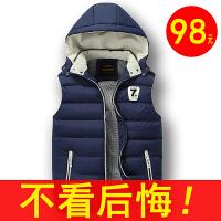 秋马甲男外套羽绒休闲运动青年学生装无袖坎肩背心保暖棉衣