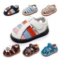 宝宝凉鞋男婴幼儿学步鞋包头小童凉鞋夏
