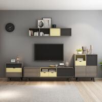 【限时直降 质保三年】北欧雅致小户型电视柜茶几组合客厅现代简约可伸缩储物柜