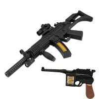 儿童玩具枪声光电动冲锋枪3-6-10岁男孩宝宝男生震动枪战机 配电池