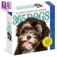 【中商原版】2020日历:365天的狗狗365 Dogs Page-A-Day Calendar 2020 益智游戏书