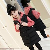 冬季女童马甲冬季外穿2018新款韩版中大童加厚儿童羽绒棉衣女孩中长款秋冬新款