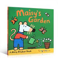 廖彩杏书单 小鼠波波系列 英文原版 Maisy's Garden: A Sticker Book 儿童启蒙学习英文 亲