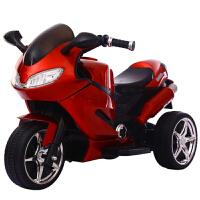 儿童电动摩托车三轮车1-3-6岁小孩玩具车可坐人宝宝充电遥控童车 版烤漆红早教灯光大电瓶 双驱动充气轮