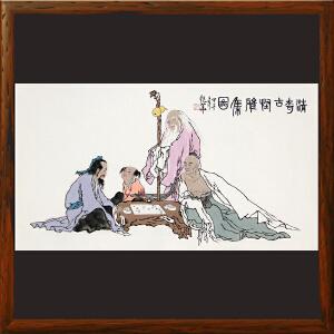 《清奇古怪雅集图》中国美术家协会会员许艳华作品【真迹R1087】