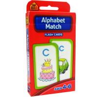 【字母搭配】School Zone Flash Cards Alphabet Match 英文原版 儿童早教入学准备