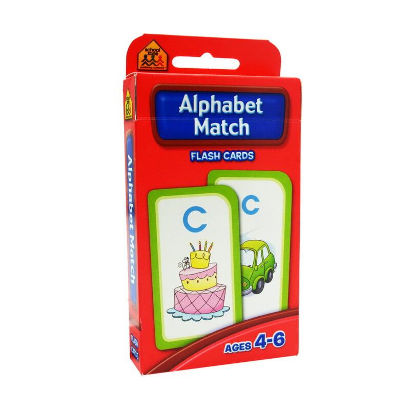 【字母搭配】School Zone Flash Cards Alphabet Match 英文原版 儿童早教入学准备 字卡闪卡