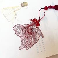 「鱼悦」古典中国风镂空金鱼 精密不锈钢礼品书签
