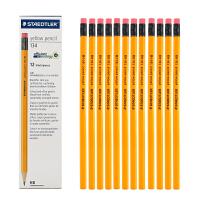施德楼铅笔STAEDTLER纯木杆六角铅笔施德楼黄杆铅笔12支装133