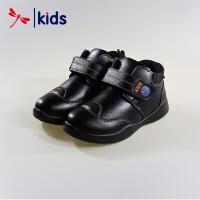 红蜻蜓童鞋男童小中童魔术贴纯色运动鞋棉鞋