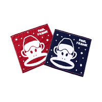 TBW3177223大嘴猴(Paul Frank) 儿童毛巾 口水巾洗脸方巾 35*35cm2条装
