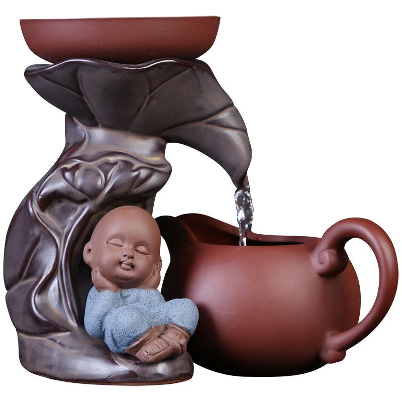 创意茶具紫砂茶漏茶滤和尚沙弥滤茶器创意陶瓷