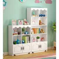 简约现代小学生书柜女童多功能储物柜卧室落地置物架儿童书架