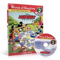 英文原版 World of Reading Mickey and Friends 3-in-1Listen-Along