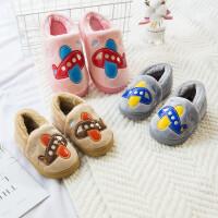 儿童棉拖鞋秋冬季女1-3岁防滑小孩保暖宝宝拖鞋室内包跟卡通棉鞋