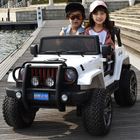 儿童电动车四轮可坐人宝宝越野四驱超大双座男女孩带遥控玩具汽车