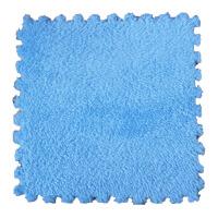 儿童拼图地毯卧室满铺房间床边毛毯可手洗客厅茶几毯拼接泡沫地垫 蓝色 30CM*30CM*0.6CM
