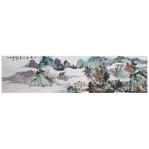 张峰《一溪云水》当代水墨画家