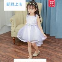 女童连衣裙夏装新款童装2018韩版女小童公主裙女孩网纱燕尾裙子潮