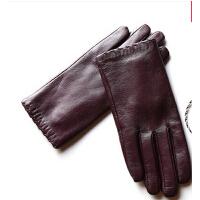 真皮手套防风皮手套女可触摸屏手套冬款保暖